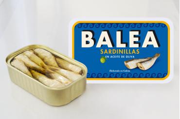 Sardines à l'huile d'olive. 16/20 pièces. 115 g