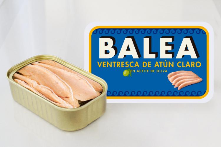 Tuna belly in olive oil. 115 gr