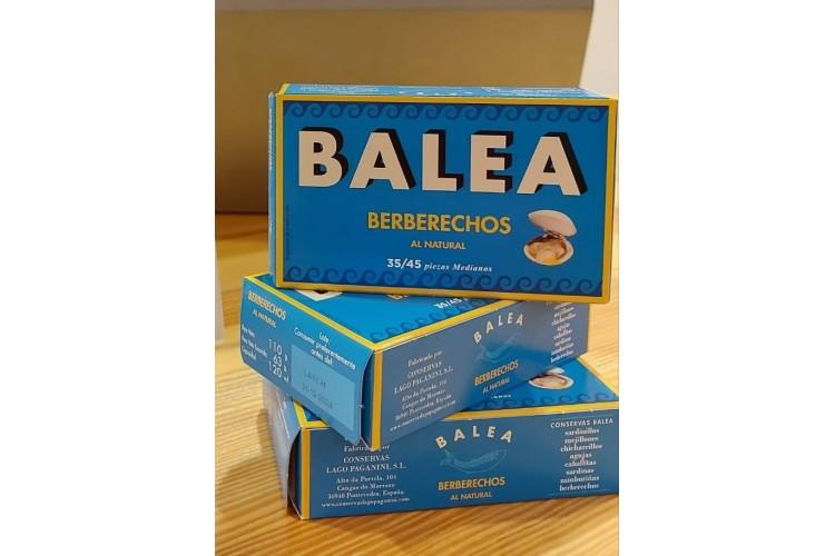 Caja 12 latas - Berberechos al natural. 35/45 piezas. 110 g